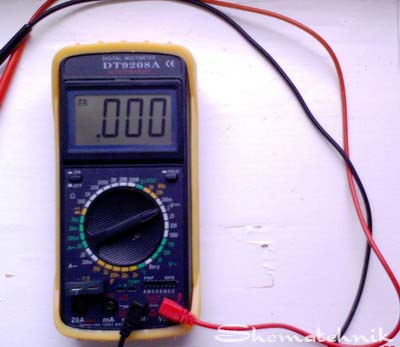 мультиметр типа DT 9208 A